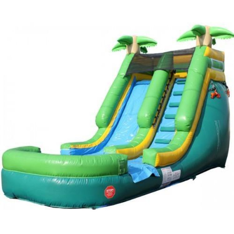 13' Tropical Plunge Water Slide