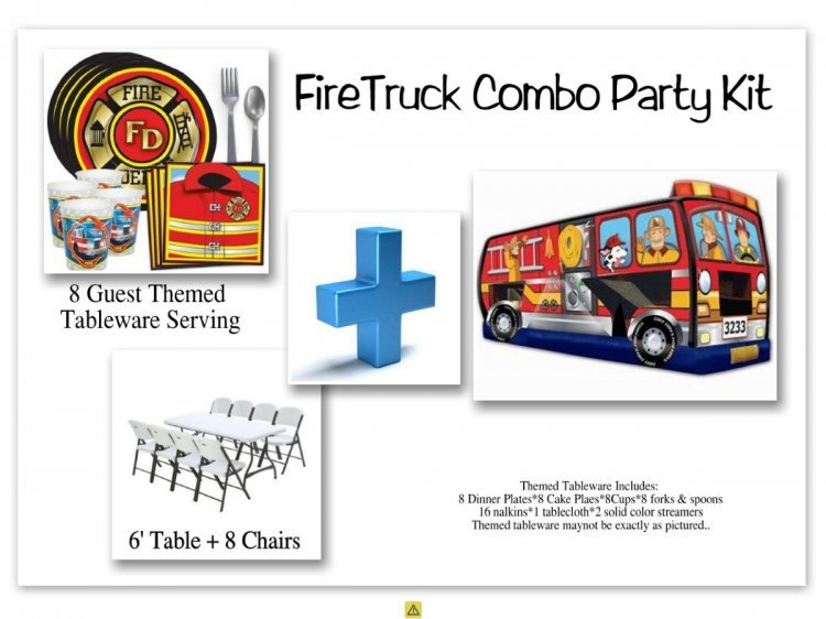Fire Truck Combo Party Kit