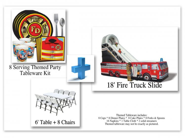 Fire Truck Party Kit