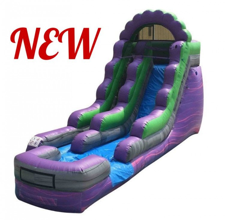 15' Purple Splash Water Slide