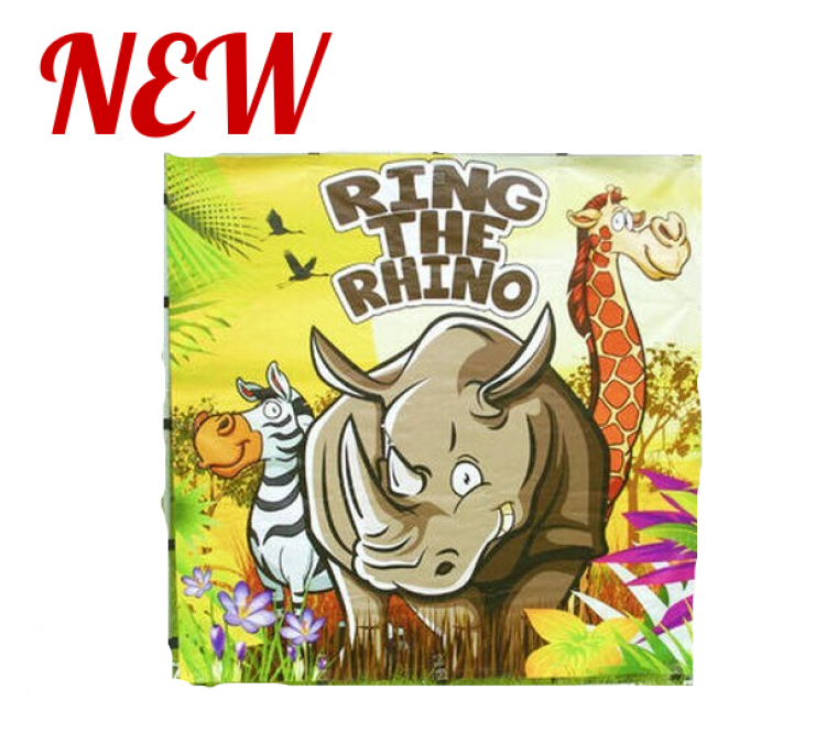 Ring The Rhino Inflatable Frame Game