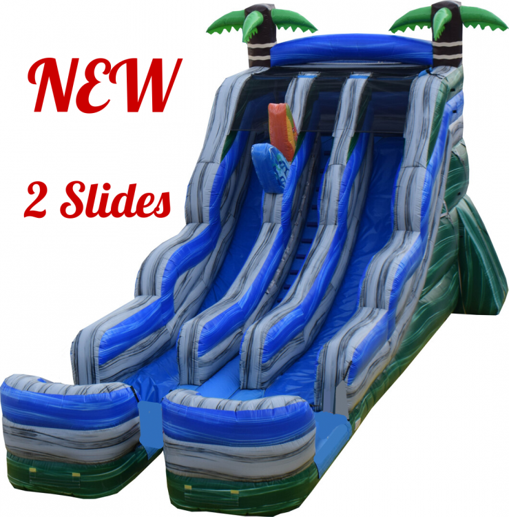 Ocean Breeze Double-Lane Water Slide
