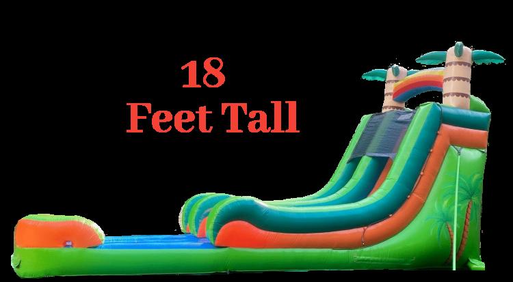 18' Tropical Splash Water Slide