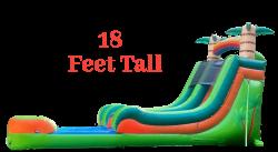 18' Tropical Splash DRY Slide